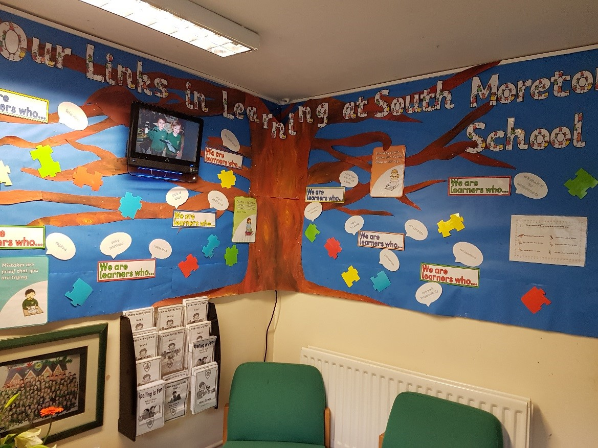 The Links in Learning display in the main entrance